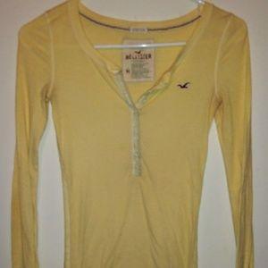 Hollister yellow medium long sleeve shirt